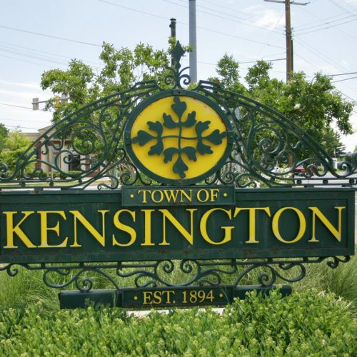 Town of Kensington-signage-antique-iron